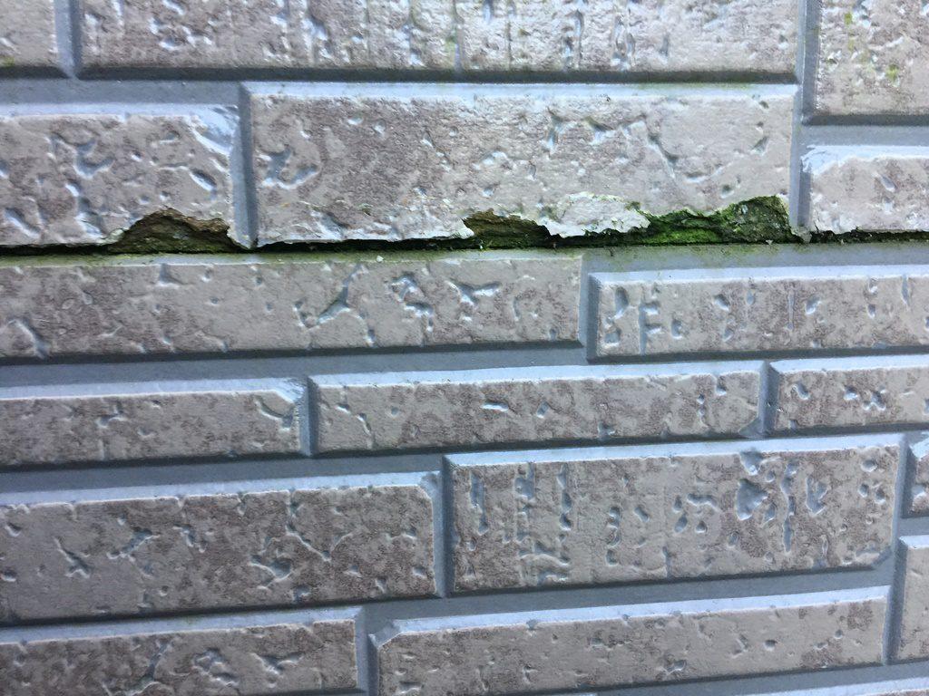 風呂場の外壁=基材よりのハクリ